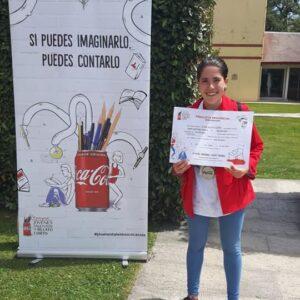 La alumna de 2° ESO Alina Alonso Gómez ha obtenido el tercer puesto de Cantabria en la 59 edición de los premios «Jóvenes talentos de relato corto» organizados por Coca-Cola