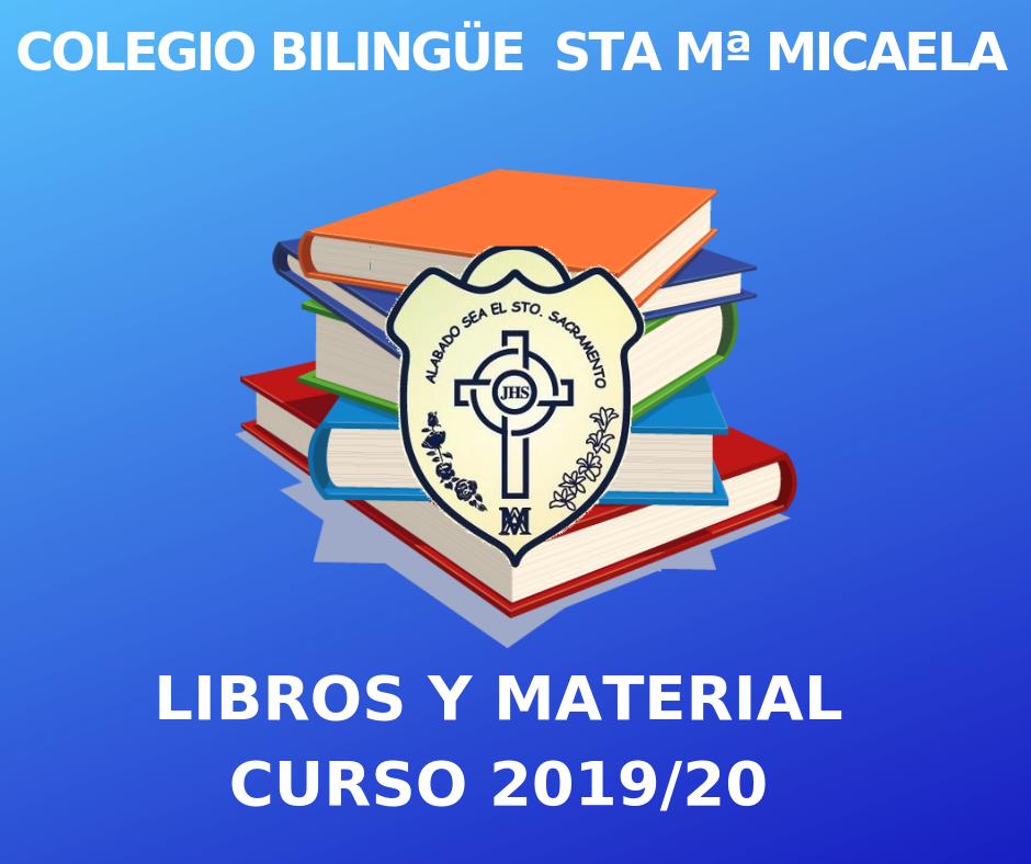 Listado de libros y material para el Curso 2019/20 en la página de descargas